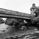 2) Under the bridge
